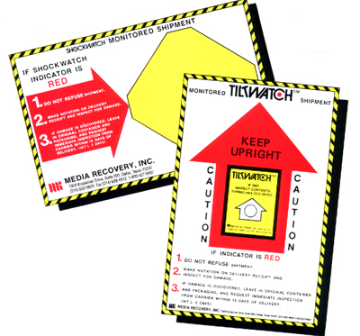 Shockwatch companion labels