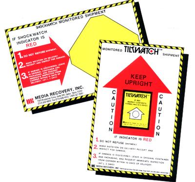 Shockwatch companion labels