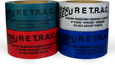 Rolls of Secure TRAC tape